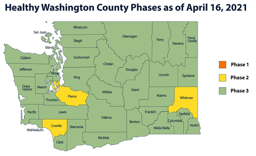 Gov. Inslee announces three counties to rollback to Phase 2